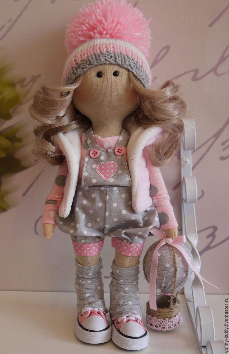 Купить Текстильная куколка-малышка Лидочка - розовый, кукла текстильная, кукла…