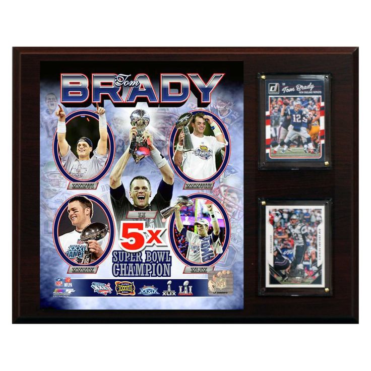 C & I Collectables NFL 12 x 15 in. Tom Brady New England Patriots 5 Time Super Bowl Winner Plaque - 1215BRADY5X
