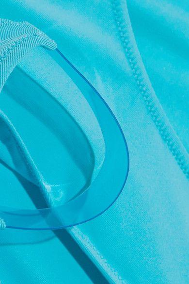 La Perla - Plastic Dream Pvc-trimmed Bikini Briefs - Turquoise - 2