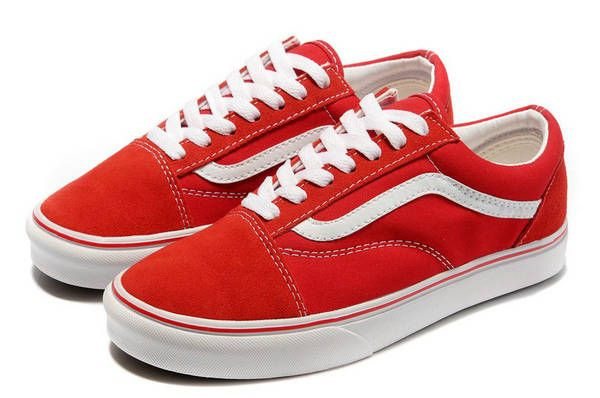 Fashionable Vans Old Skool Suede All Red White Logo Low Top Shoes [88] - $39.99 : Vans Shop, Vans Shop in California