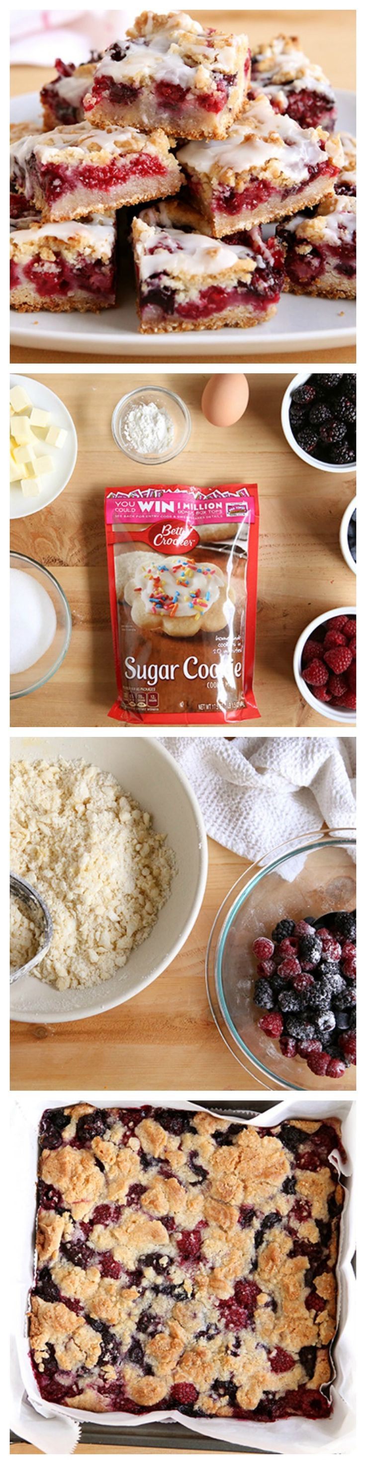 Wrap up your next feast with a spring-y sweet made with fresh berries and Betty Crocker sugar cookie mix.