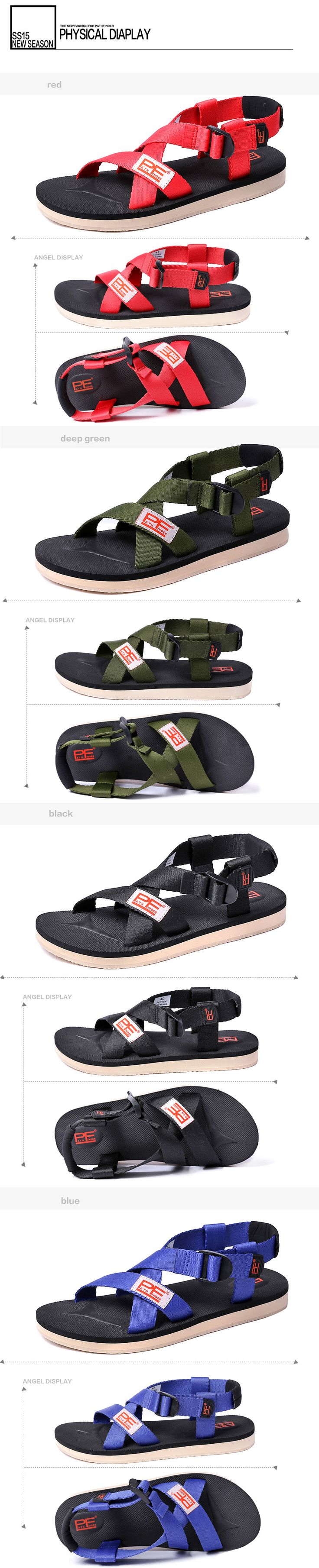 Aliexpress.com : Buy Pathfinder High Quality Men Summer Sandals Leisure Man Outdoor Leather Sandals Plus Size Black Red Casual Summer slippers 2016 from Reliable sandals pictures suppliers on Pathfinder PathFinder store
