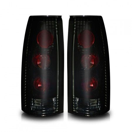WinJet WJ20-0003-05 | 1995 Chevy C/K Series Black Smoke Altezza Taillights for SUV/Truck/Crossover