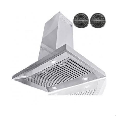 AKDY Island Mount Ventless Range Hood 36-in