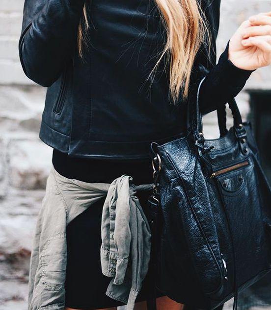 balenciaga 'velo' tote bag -- Courtney's Current Black Bag (worn to Blake Shelton concert)