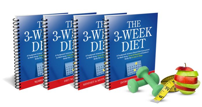 The program is called the 3 Week Diet and it is exactly what it sounds like, plus a little bit extra