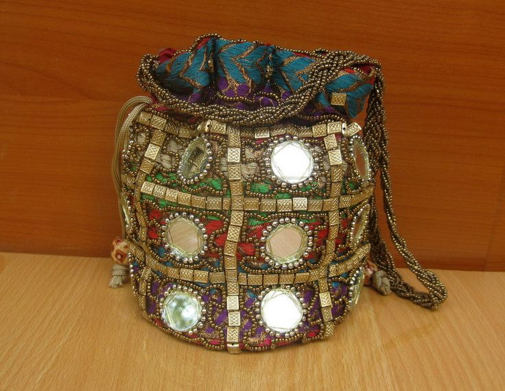 Hand bag/ purse /hand purse/ embroidered bag/purple purse/ party bag/ multicolored bag/ evening bag/ colorful bag/ potli/  gift item. by vibrantscarves on Etsy