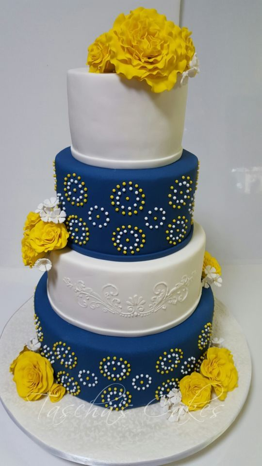 Shweshwe wedding cake