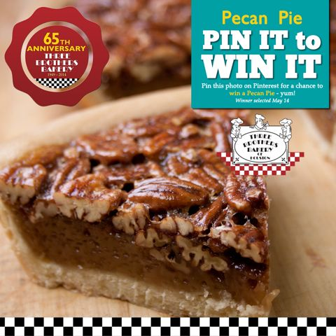 Pecan Pie from Three Brothers Bakery! We will choose FOUR winners ...