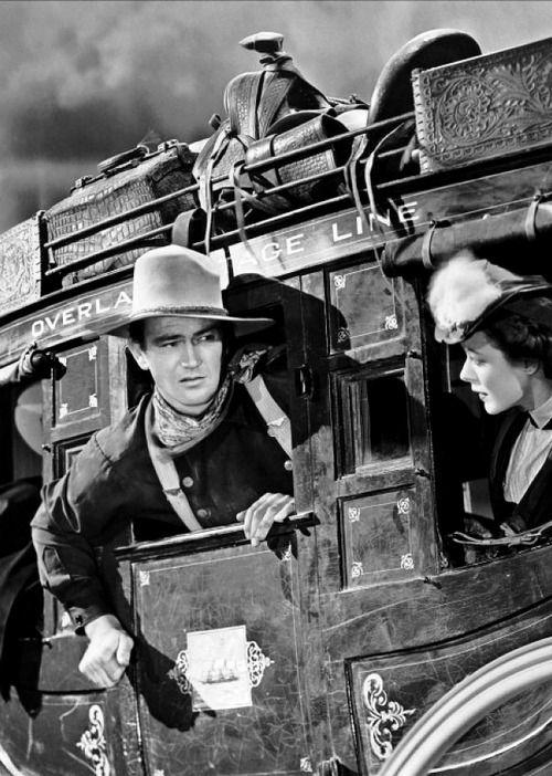 John Wayne & Louise Platt in Stagecoach (dir. John Ford)