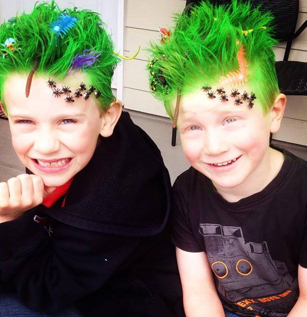 Crazy Hair Day 27 original hairstyles for children (15)