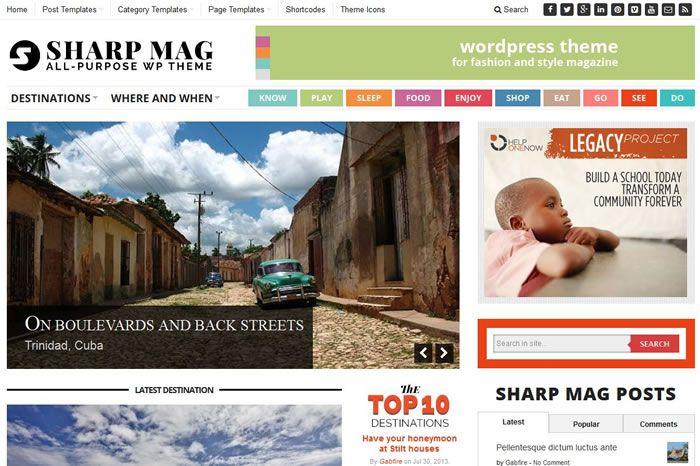 Szablon Wordpress Sharp Magazine od GabfireThemes - http://trejka.pl/szablon-wordpress-sharp-magazine-gabfirethemes/