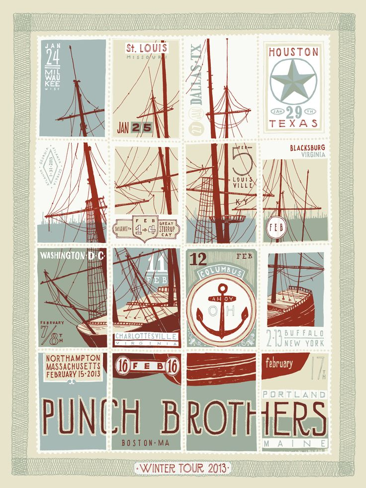 love this tour poster from the punch brothers