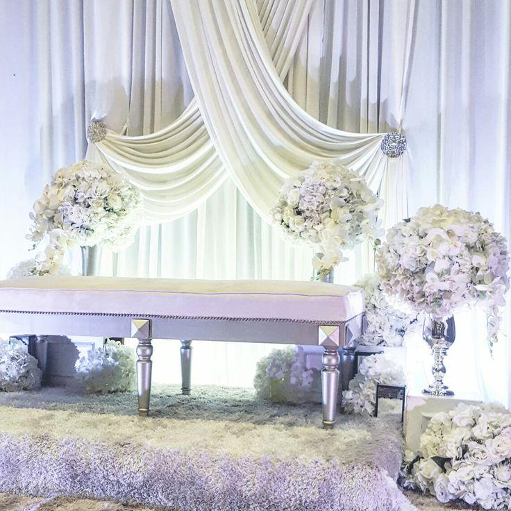 White wedding dais