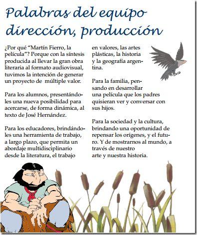 Actividades día de la tradición para trabajar con la película de Martín Fierro
