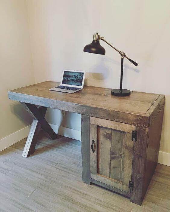 30 Reclaimed Desk Furniture Amazing Ideas | Diy computer ...