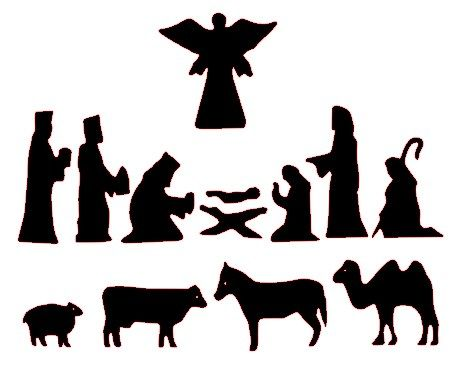 free silhoutte nativity scene patterns | Free Nativity Silhouette Patterns http://paperpulse.blogspot.com/2011 ...