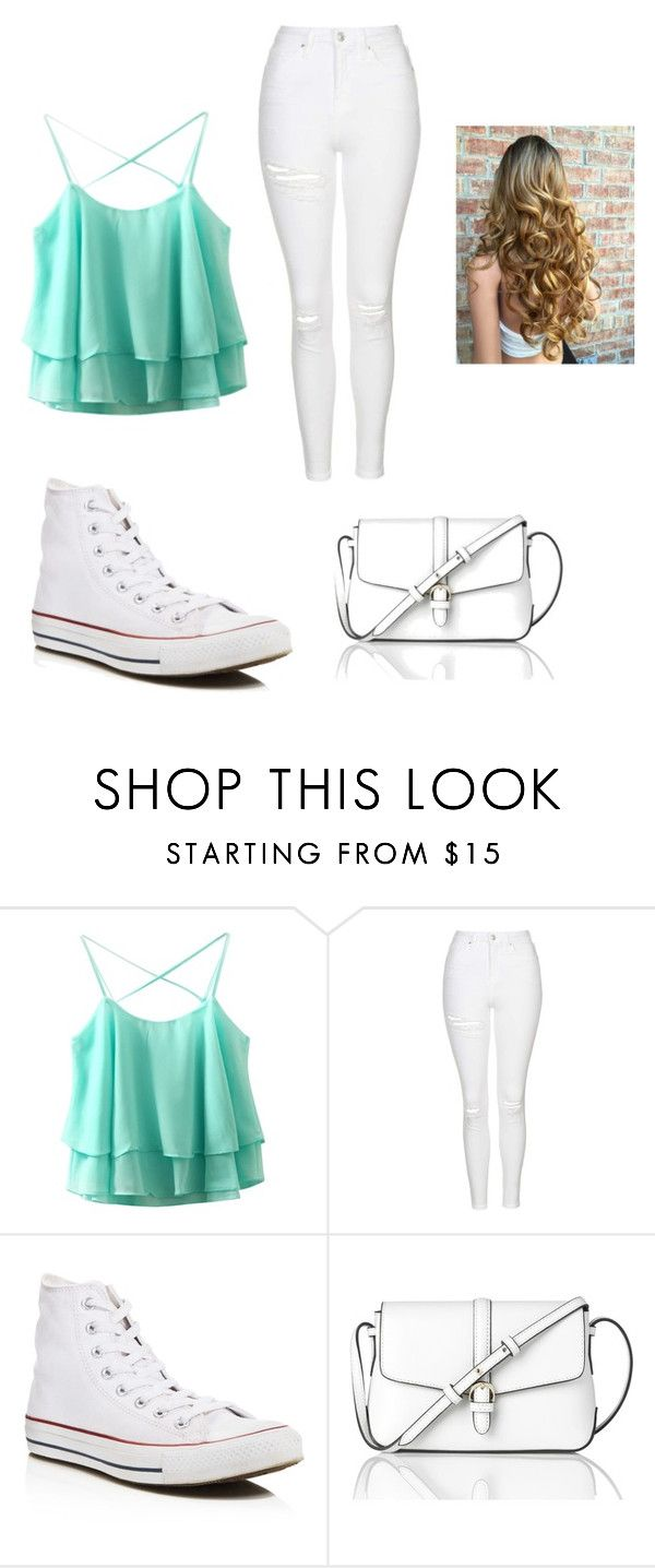 """""""Cute blue"""" by mylifeasmaddy25 ❤ liked on Polyvore featuring Topshop, Converse and L.K.Bennett"""