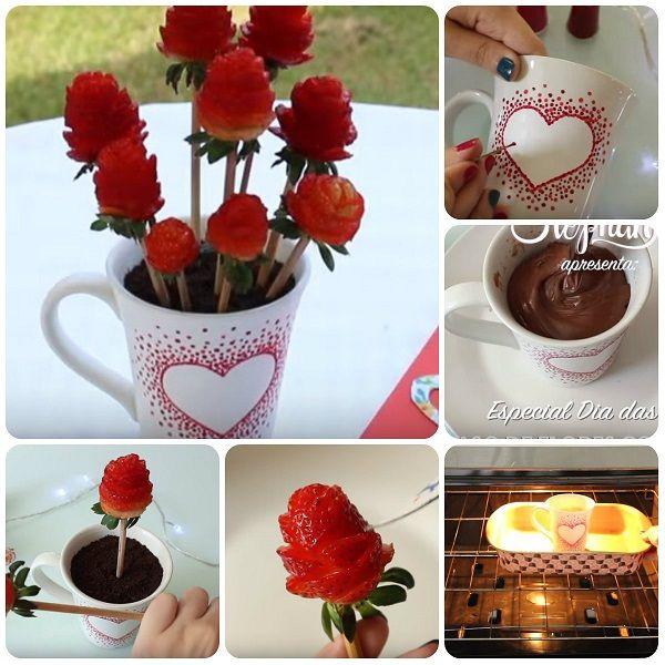 Come fare fiori commestibili per la Festa della Mamma in un tutorial completo con anche una golosa tortina al cacao in tazza.