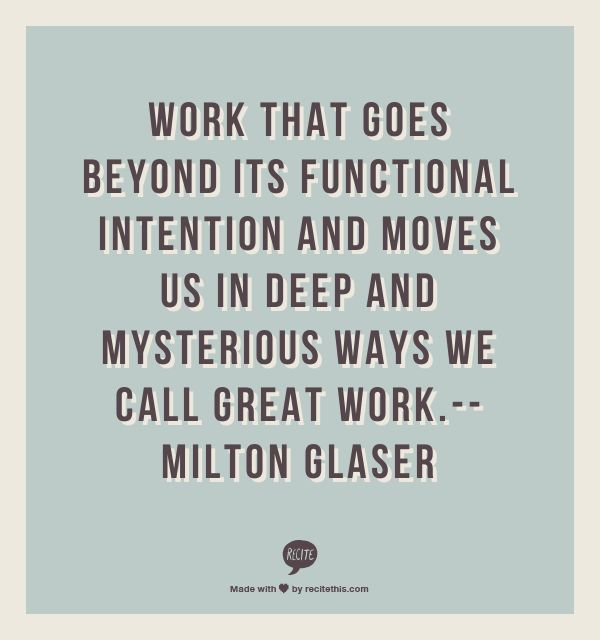 milton glaser essay Explore trebleseven's board milton glaser on pinterest | see more ideas about milton glaser, posters and vintage posters.