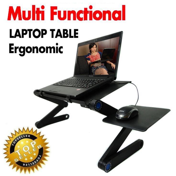 Multi Functional Ergonomico mobile laptop supporto da tavolo per bed divano tabella del computer portatile pieghevole notebook Scrivania Portatile con mouse pad