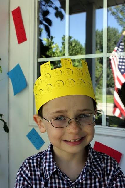 Lego Party hat for the birthday boy or girl