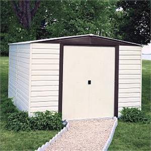 arrow vinyl coated metal dallas 10x12 storage shed building kit storageshedsoutlet