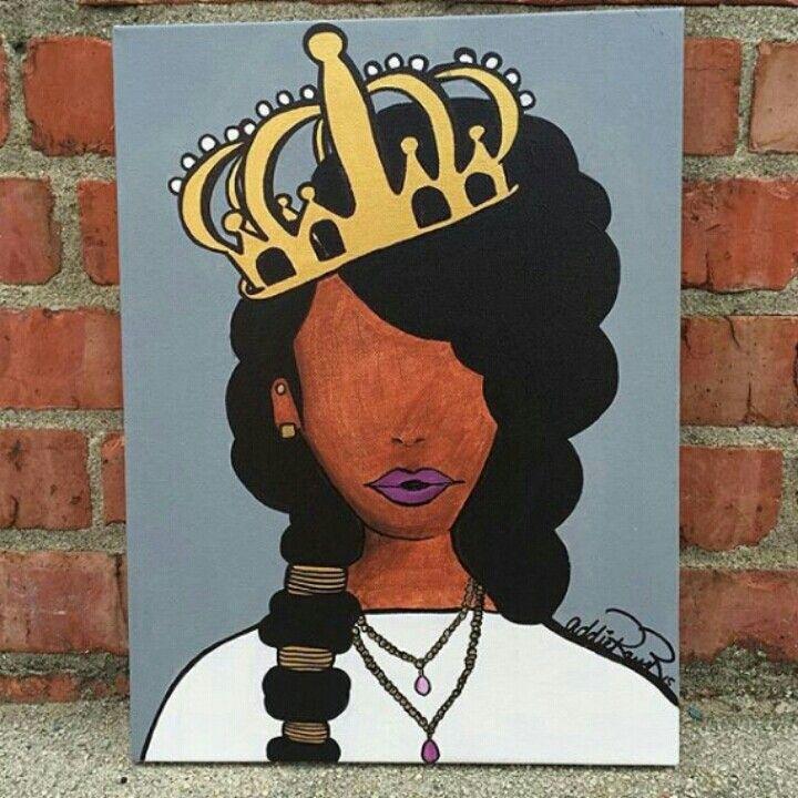 black artist painting