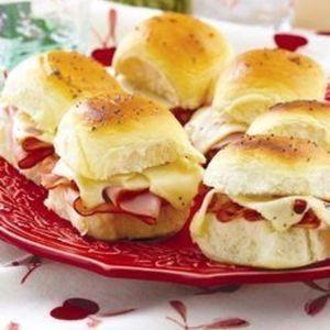 Hawaiian Sweet Rolls Ham & Swiss Sandwiches