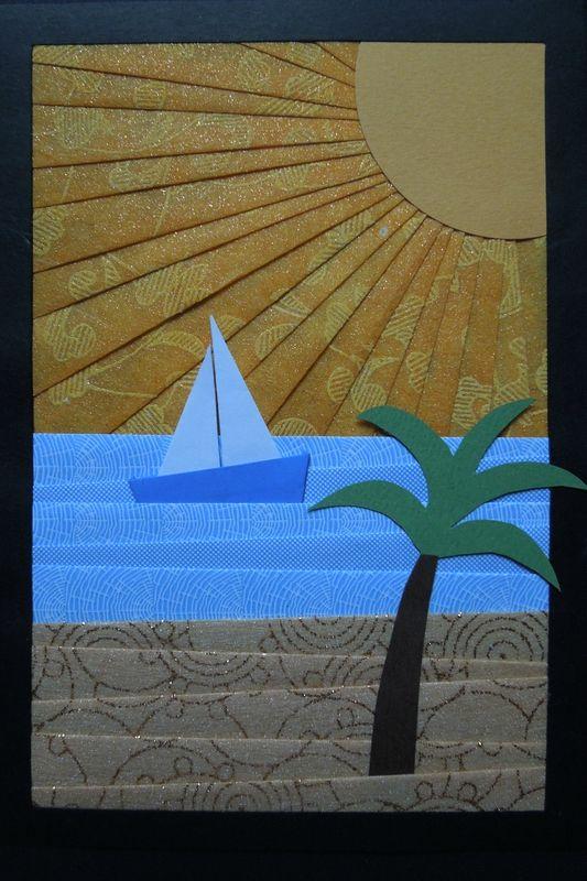 Iris folding : Paysages - Créations et récréation