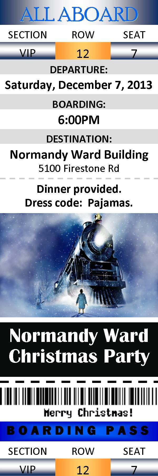 Polar Express Ward Christmas Party tickets