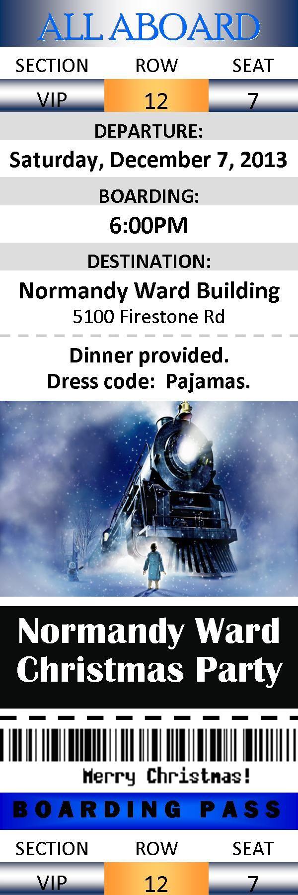 Polar Express Ward Christmas Party tickets