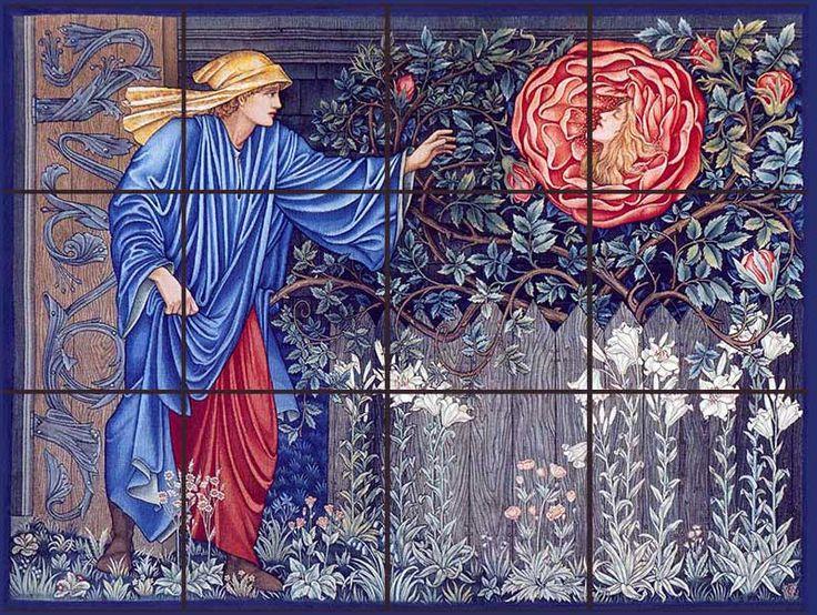 Heart of the Rose tile mural