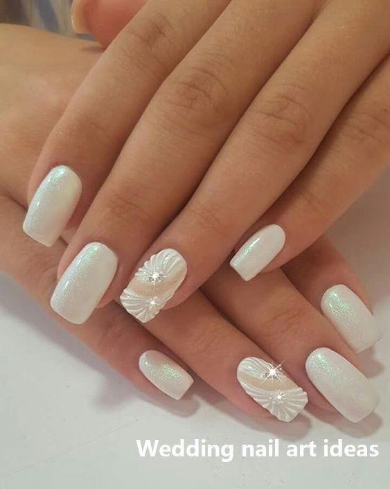 35 idées simples pour la conception des ongles de mariage #nailartideas – Nag …   – Wedding looks