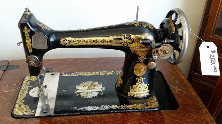 Here's a  close up shot of the stunning antique Singer sewing machine we have in store: $250