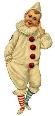 Vintage Graphic - Pierrot Clown Boy - The Graphics Fairy