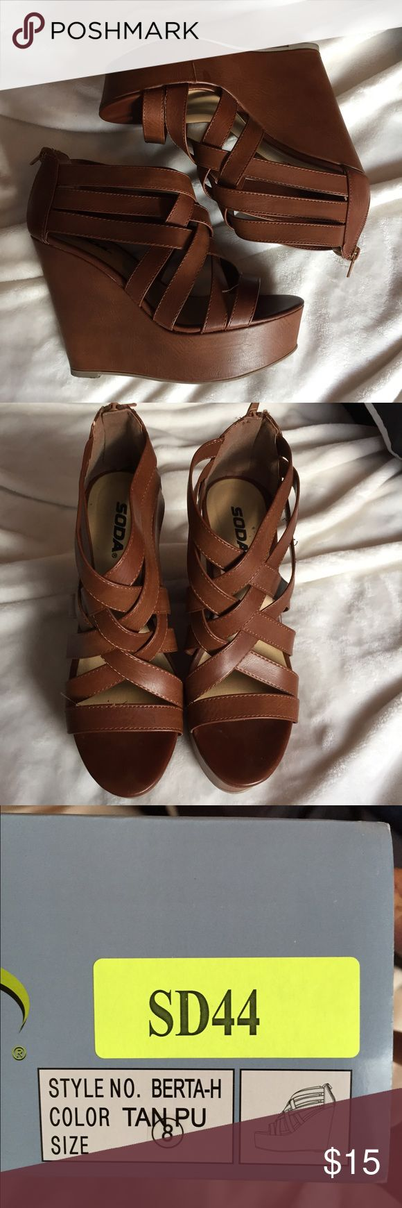 Soda wedges Worn once. Tilly's Shoes Wedges
