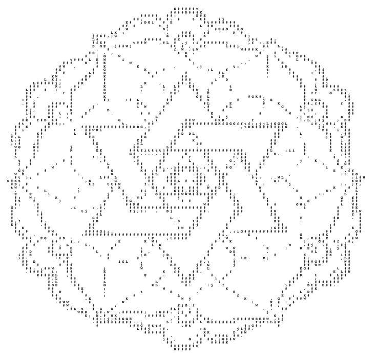 Members of the <3 (-: O religion has created the largest ASCII mandala.