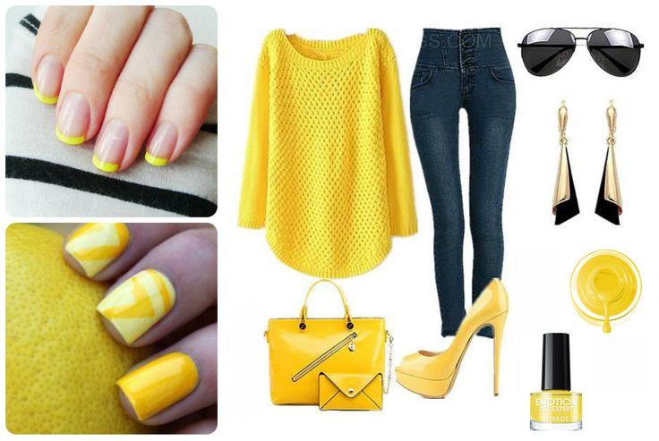 #divage #nail #yellow