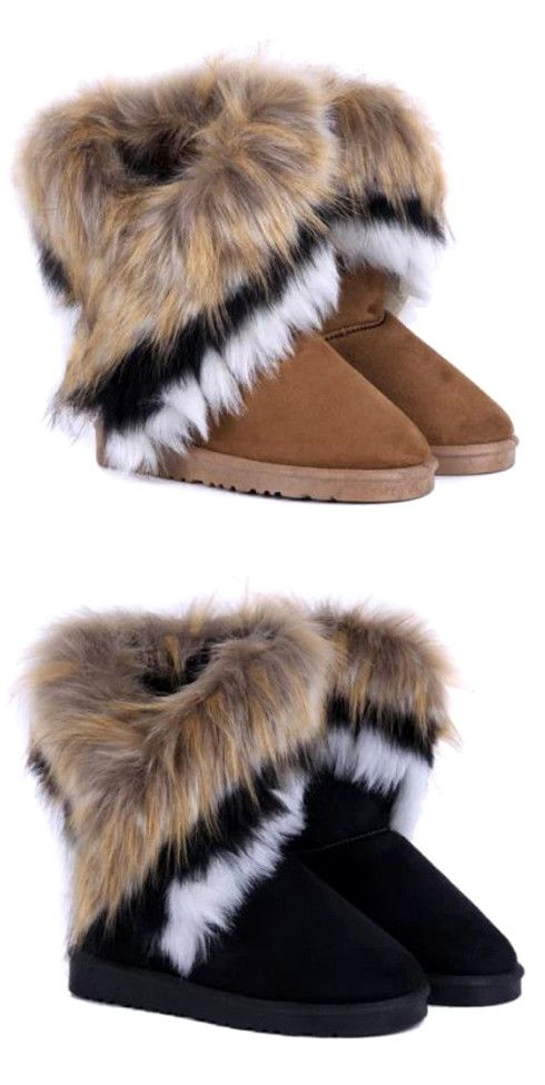 $19.00 Simple Style Mid-Calf Design Women's Snow Boots