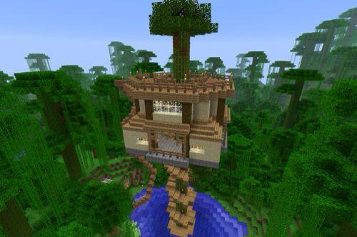 Minecraft treehouse