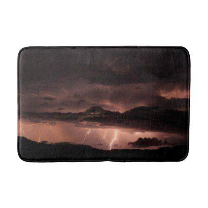 Lighting Storm Photo Bathroom Mat - photos gifts image diy customize gift idea