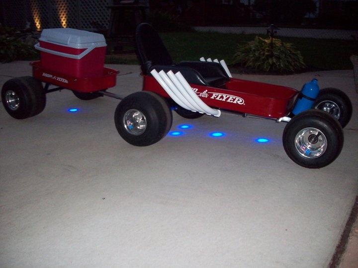 Radio Flyer - Customized Pull Wagon & Trailer w/LED lights
