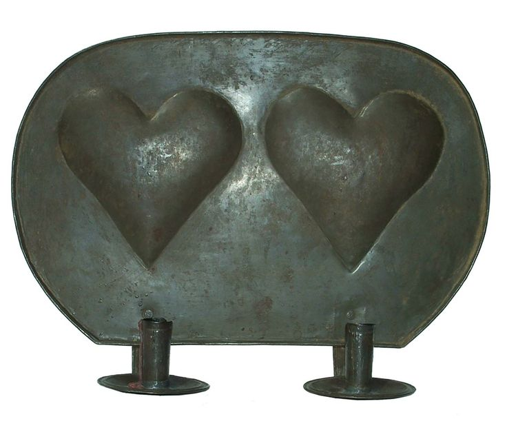 Y176 Lancaster County Pennsylvania Double Candle Wall Sconce with convex heart  circa 1850  Country Treasures