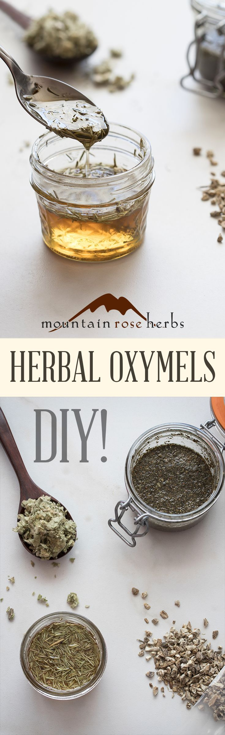 Vinegar, herbs, and honey recipes from Mountain Rose Herbs.