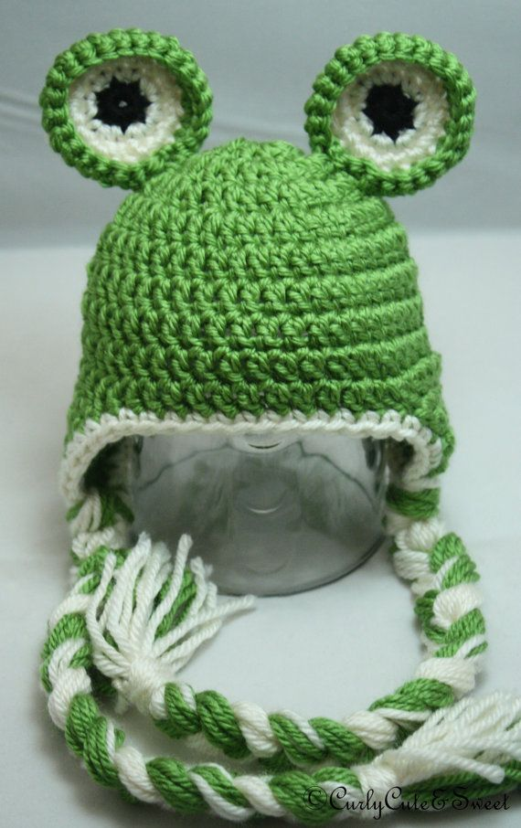 Frog Crochet Earflap Hat, This has good balance and coloring to it.