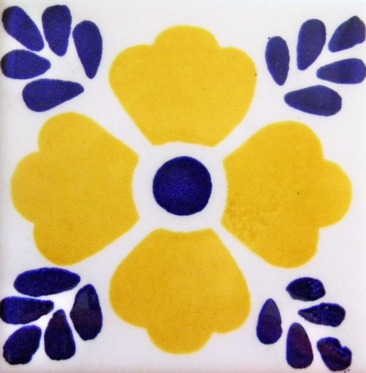 Mexican Tile / Lomeli 414 Amarillo, Ceramic Mexican Tile ...