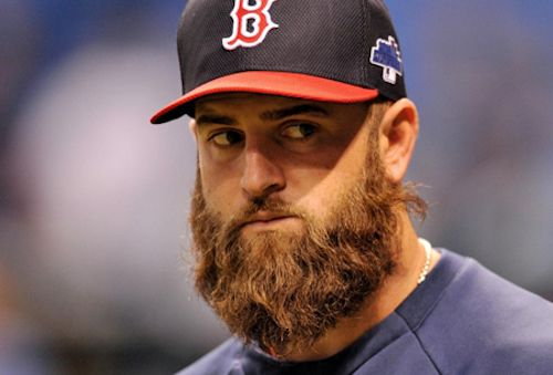 #1 Boston Red Sox first baseman and Beardbrand user Mike Napoli arguably has the longest tenured and best active beard in the game today