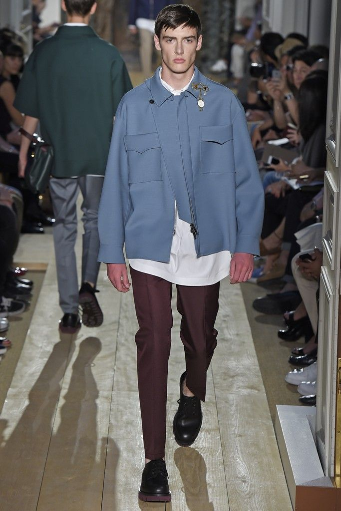 Valentino Men's RTW Spring 2015 - Slideshow Like jacket workmanship and color.