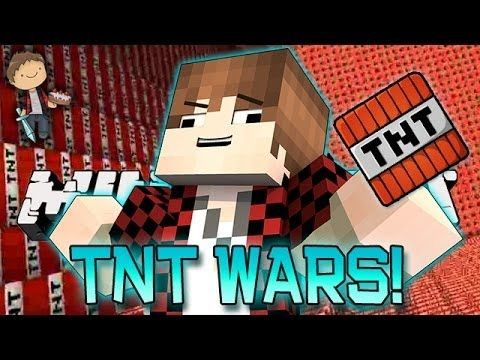 Minecraft: TNT Wars Mini-Game! How To Build CRAZY TNT Cannons!